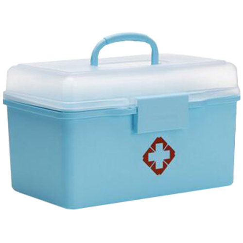 Portable Household First-Aid Kit/Medicine Storage Box Pill Organizer Sky Blue