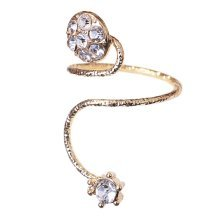 Stylish Finger Nail Ring Nail Decoration Adjustable Joint Ring, Round, Golden