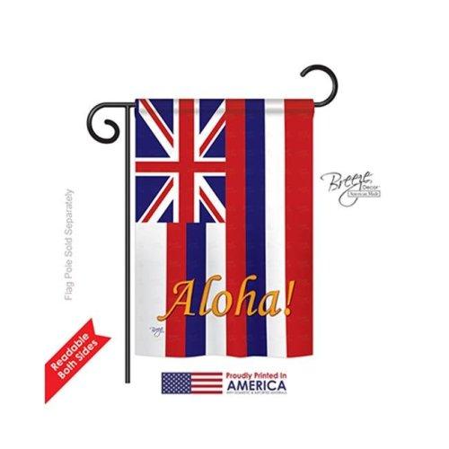Breeze Decor 58121 States Hawaii 2-Sided Impression Garden Flag - 13 x 18.5 in.