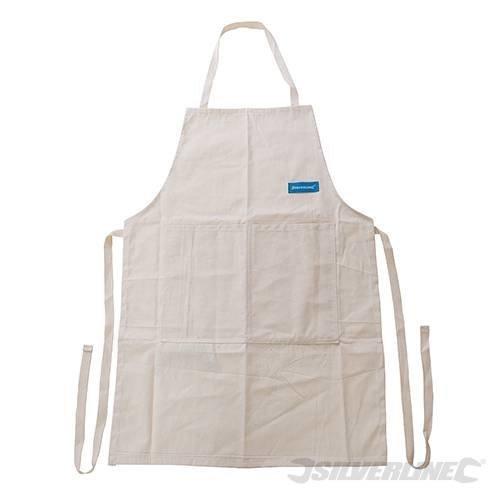 Silverline Cotton Carpenters Apron One Size. -  cotton carpenters apron silverline size one 538186 pockets