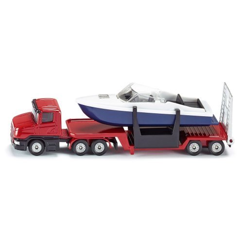SIKU - Scania Low Loader & Boat