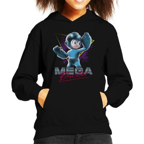 Mega Man Buster Retro 80s Kid's Hooded Sweatshirt
