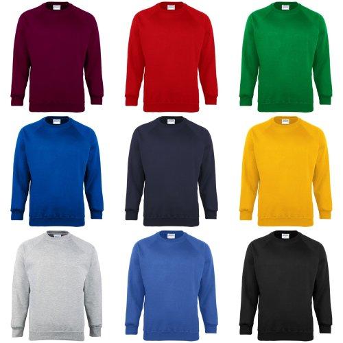 Maddins Kids Unisex Coloursure Crew Neck Sweatshirt / Schoolwear