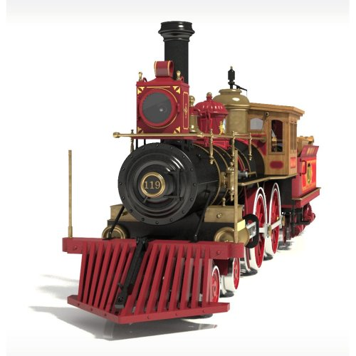 Occre Rogers Union Pacific 119  Locomotive Train Scale Model Wood and Metal Display Kit