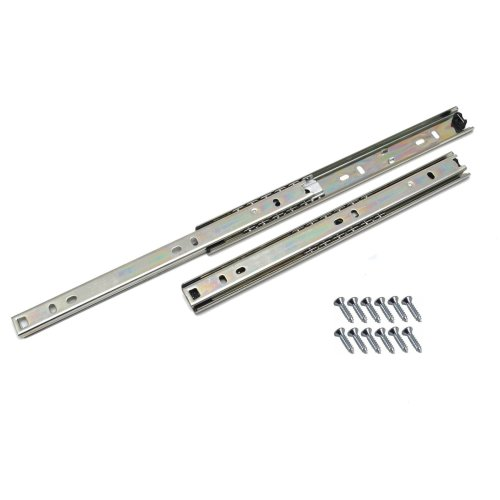 Ball bearing drawer runners groove slides, H-27mm  L-350mm (1 Pair)