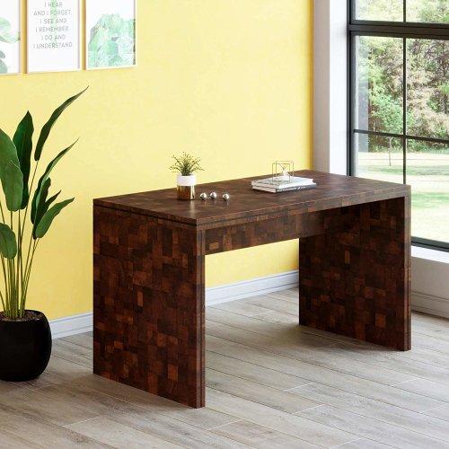 Awe Inspiring Cherry Tree Furniture Kuno Chequered Walnut Colour Rectangular Home Office Desk Uwap Interior Chair Design Uwaporg