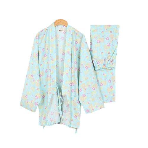Cotton Thick Pajamas Women Pajamas Suit Fall & Winter Bathrobe Beautiful Floral
