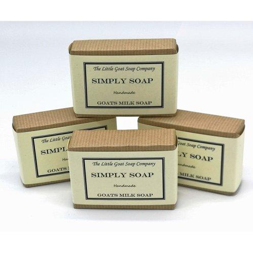 4 x Simply Goats Milk Soap. Unscented 100g. Sensitive Skin. Eczema, Psoriasis, Dermatitis. Dry Skin