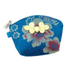 Set of 2 Traditonal Chinese Embroidered Jewelry Coin Pouch Bag Wallet Purses   E