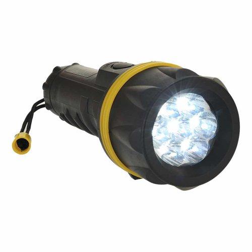 sUw - Handheald Long-Lasting 7 LED Rubberised Torch With Wrist Strap