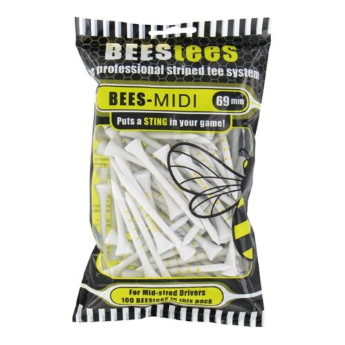 Golfers Club Bees Tees 69mm Wood Golf Tees - Pack 100