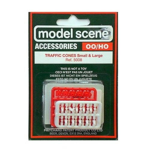 Traffic Cones (Large & small) - OO/HO Accessories Model Scene 5008