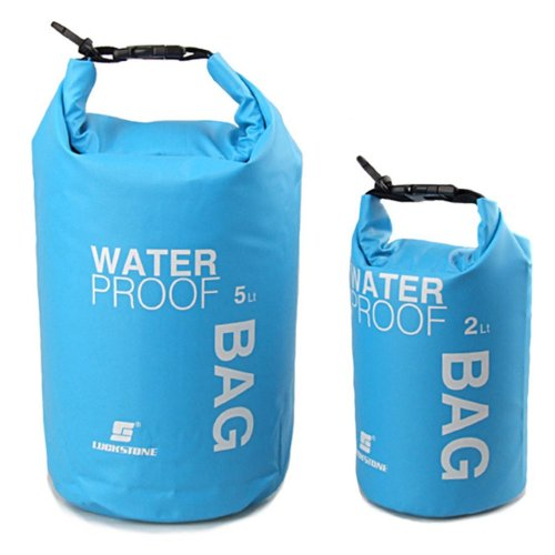 LuckyStone Coloured Drifting Waterproof Dry Bag For Boating, Kayaking, Fishing, Rafting, Swimming, Camping, Canoeing (Blue, 15L)