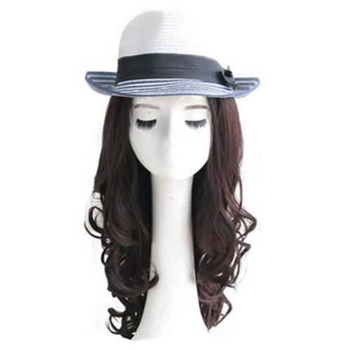High Quality Fashion Lady Wig Romantic Natural Curls Wig Fashion Bob Dark Brown