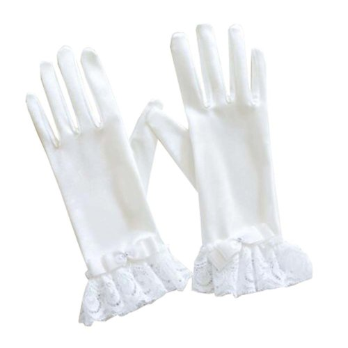 Women's Evening Party Lace Finger Gloves(Short) Gloves For Wedding Prom Party,A6