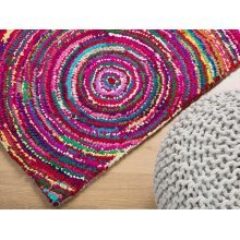 Rug - Carpet - Deep Pile - Cotton and Polyester -  - Colourful - KOZAN