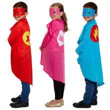 Kids Superhero Cape & Eye Mask