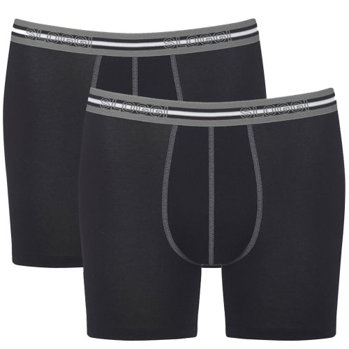 Sloggi Match Short C2P 2 Pack Briefs BLACK