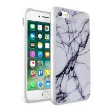 i-Tronixs - Black & White Marble Design Printed Case Skin Cover - 010