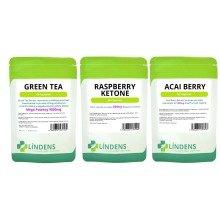 60 Raspberry Ketones 60 Acai Berry 60 Green Tea 9000mg Slimming Diet Pills Weigh