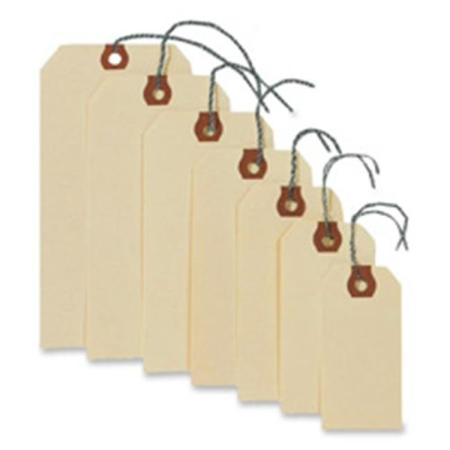 Avery Consumer Products AVE12602 Shipping Tags W-Wire- No 2- 3-.25in.x1-.63in.- Manila