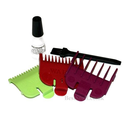 Wahl 3 Short Attachment Comb Set - for Wahl Super Taper, Chromepro, Balding, ...
