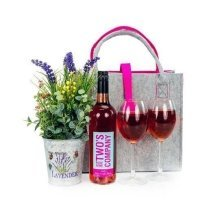 Flowers and Wine Gift Bag