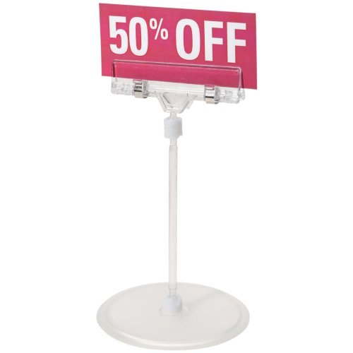 """Small Sign Holder W/Stand 6.1""""-"""
