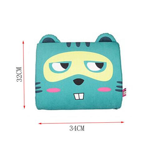 Cute Cat Design Breathable Lumbar Support/Back Cushion Memory Foam,Blue