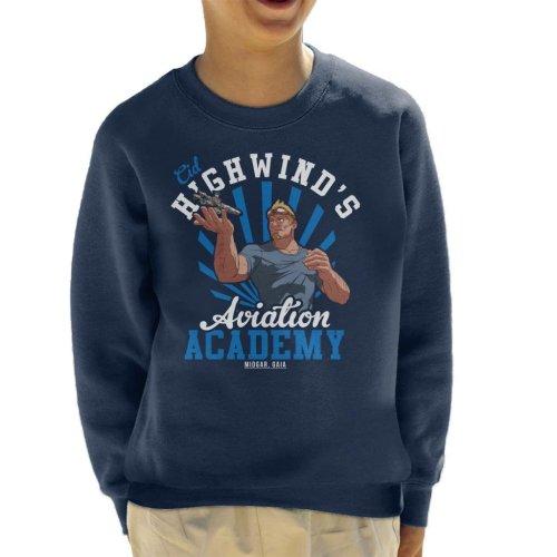 Cid Highwinds Aviation Academy Kid's Sweatshirt