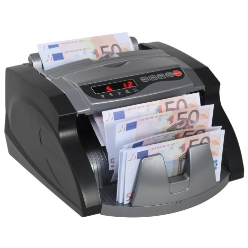 vidaXL Money Counter for Banknote and Bill Black and Grey Currency Checker
