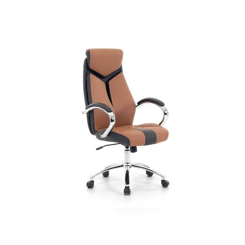 Office Chair Brown - Swivel - Office Furniture - FORMULA 1