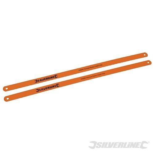 2pk Hacksaw Blades - Cobalt 24tpi Silverline 456985 -  blades hacksaw cobalt 24tpi silverline 456985 2pk