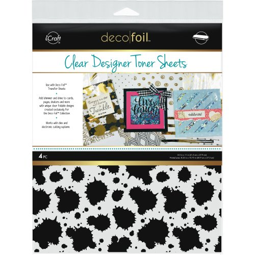 "Deco Foil Clear Toner Sheets 8.5""X11"" 4/Pkg-Splatter"