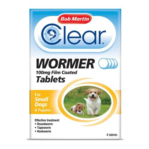 (Small Dog, Single) Bob Martin Clear Wormer Tablets For Dogs