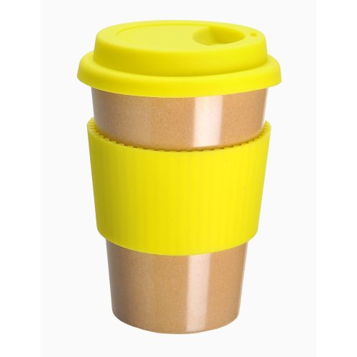 OLPRO Husk BreakTime Re-Useable Beaker - Yellow
