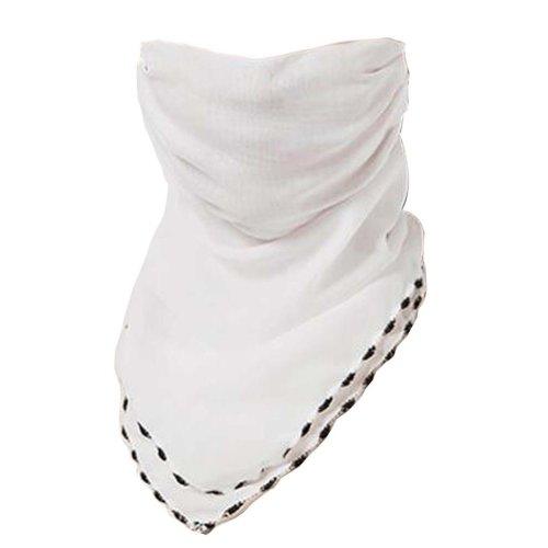 Women Girls Summer Sun Dust Protection Face Mask Neck Gaiter Chiffon Scarf #01