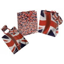 Pack Of 2 Union Jack Gift Bags 2 Assorted Designs - Set Gifts Occasion Brand New -  union jack gift bags set 2 gifts occasion brand new