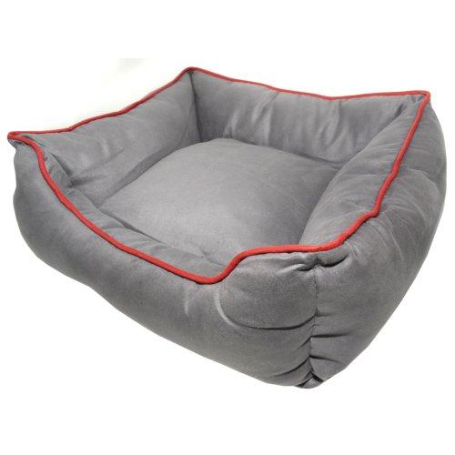 Dog Gone Smart Suede Lounger Bed Graphite 66x61cm