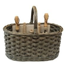 Antique Wash Garden Basket with Tools