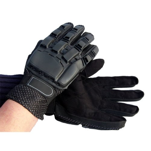 Full Fingered Armoured Paintball or Airsoft Gloves Black