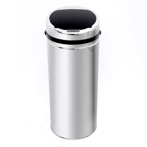 Homcom 42l Luxury Sensor Dustbin Stainless Steel with Bucket