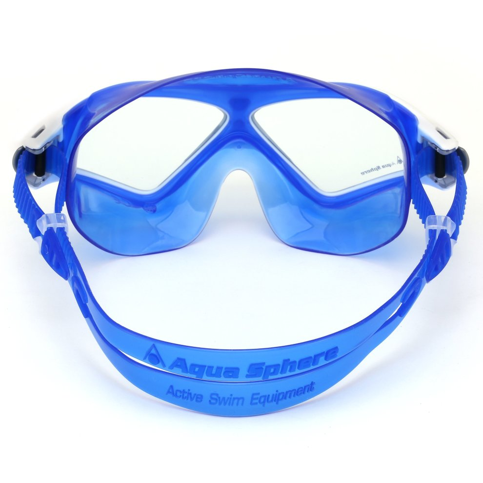 cda051cae0cd ... Aqua Sphere Seal XP2 swimming Mask with Clear Lens - White Blue - 2 ...