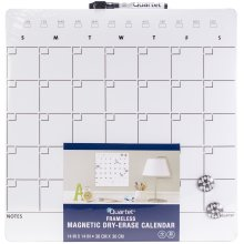 "Quartet Magnetic Dry-Erase Calendar Tile 14""X14""-One Month Design, Frameless"