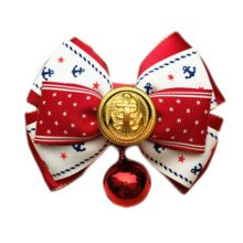England Style Pet Collar Tie Adjustable Bowknot Cat Dog Collars with Bell-C09