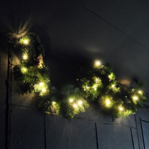 1.2M Christmas Garland with Warm White Static LEDs?(Gar100)