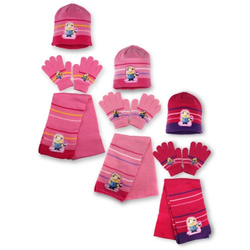 Minions Hat, Scarf and Gloves Set
