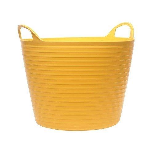 Faithfull FAIFLEX42Y Heavy-Duty Polyethylene Flex Tub 42 Litres Yellow