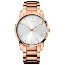 Calvin Klein City Rose Gold Mens Watch K2G21646