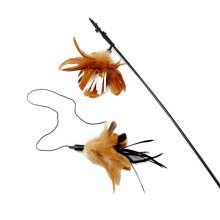 Interactive Educational Toy for Pet--Feathers Cat Toy/Bird Rod [No.03]